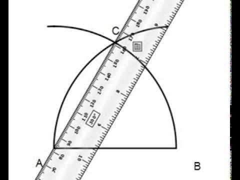 Costruzione del triangolo equilatero dato il lato youtube for Costruzione ottagono dato il lato