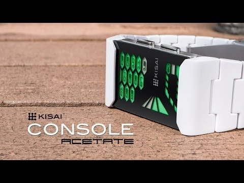 Futuristic Watches: Kisai Console Acetate LED Watch from Tokyoflash Japan