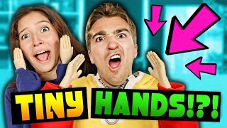 TINY HANDS CHALLENGE WITH PUNISHMENT! (REACT)