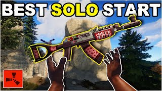 The PERFECT RUST SOLO START (Fresh Wipe)! Rust Solo Survival