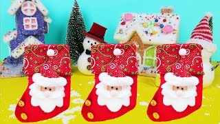 CHRISTMAS DISNEY FROZEN SURPRISE STOCKINGS In Winter Snowman Town| Children Christmas Songs Rhymes