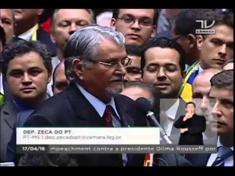 Zeca do PT vota contra o golpe para derrubar a presidenta Dilma