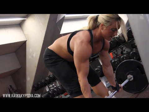 Katka Kyptova - Back workout december 2010