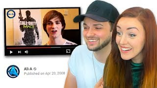 Ali + Clare REACT to their 1st VIDEOS! 🙈