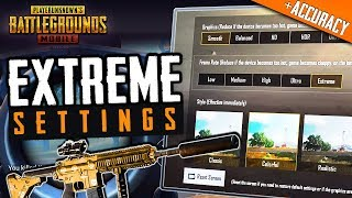 BEST PUBG MOBILE SETTINGS for EXTREME ACCURACY