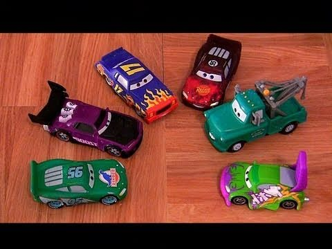 6 Color Changers CARS 2 Boost, Wingo, Darrell Cartrip, Brand New Mater, Lightning Mcqueen water toys
