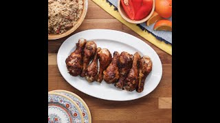 Jazzy Orange Glazed Drumsticks • Tasty