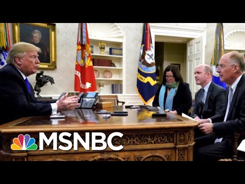President Donald Trump Says He Wont Be Impeached Because People Will Revolt  The 11th Hour  MSNBC