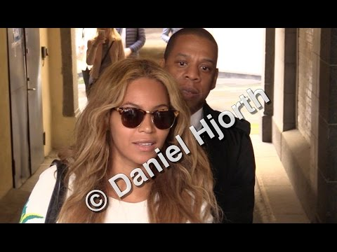 Beyoncé and Jay Z leaving a business meeting in Oslo, Norway!