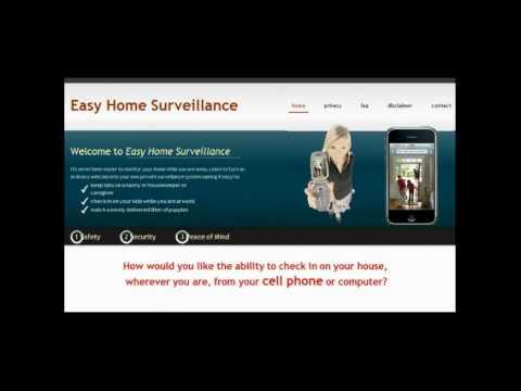Easy home surveillance – cell phone