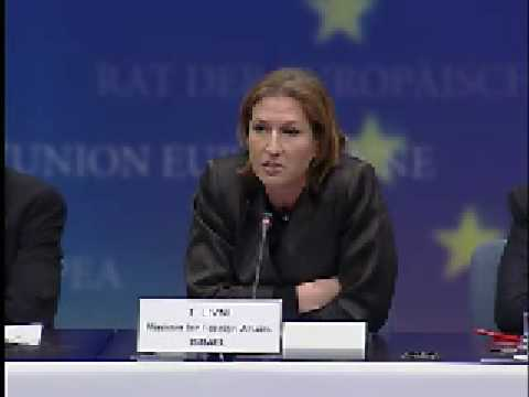 Meeting of EU foreign ministers with Israeli foreign minister Tzipi Livni
