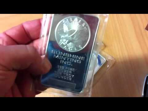 Sunshine Minting 10 Oz Silver Bars Youtube