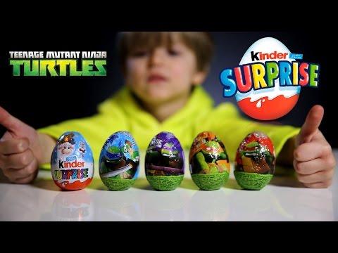 Teenage Mutant Ninja Turtles Nickelodeon Surprise Eggs And Kinder Surprise Easter Edition Egg video