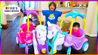 Little Tikes Magical Unicorn Carriage Ride On + Princess Horse and Carriage