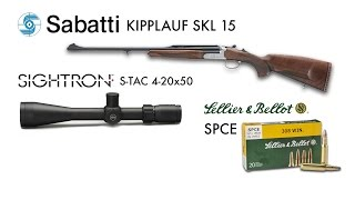 Test a caccia: Sabatti Kipplauf SKL15 - Sightron S-TAC 4-12x50 - S&B SPCE