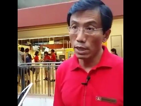 SDP Bukit Batok SMC By-Election 2016 - Media Doorstop outside Bukit Batok MRT Station