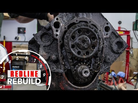 Chevy Small-Block Engine Rebuild Time Lapse   Redline Rebuild #1