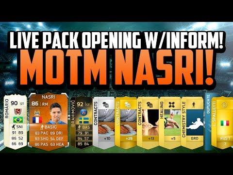 MOTM NASRI! LIVE PACK OPENING w/ INFORM!   FIFA 14 Ultimate Team