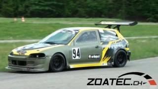 Very fast HONDA CIVIC K-24 by R-PERFORMANCE.CH - Time Attack Slalom Frauenfeld 2011 - cool sound