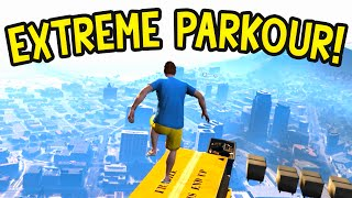 EXTREME PARKOUR! GTA 5 Funny Moments : Olli43 vs Geo23 Episode 46