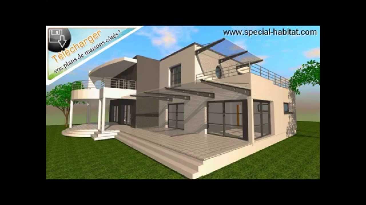 Cubique moderne for Plan de villa 3d
