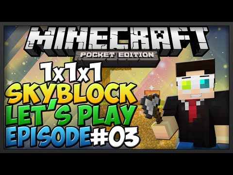 0.9.5 Minecraft Pocket Edition: 1x1x1 Skyblock Ep.3 Mob Grinder