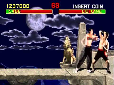 MORTAL KOMBAT [Arcade] -  Johnny Cage GamePlay - Part 1