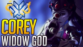 BEST OF COREY - RANK 1 WIDOWMAKER | Overwatch Corey Montage & Esports Facts