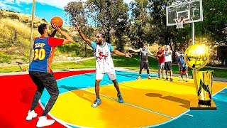 Kawhi Leonard vs Stephen Curry Finals King of The Court Basketball Challenge w/ 2HYPE!