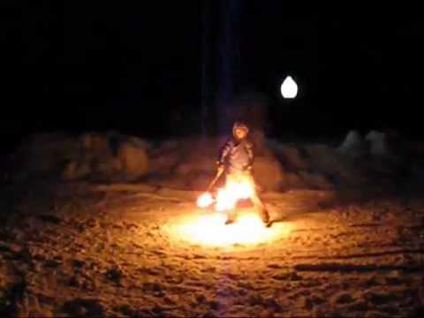 Огненные пои - Winter fire show)))