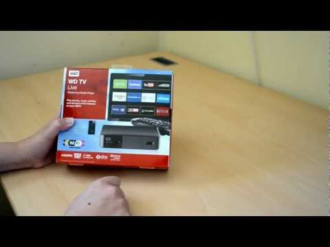 Western Digital TV Live Streaming Media Player Unboxing and First Look