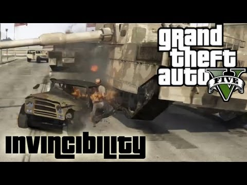 ★ GTA 5 - Invincibility Cheat   Military Base Rampage!