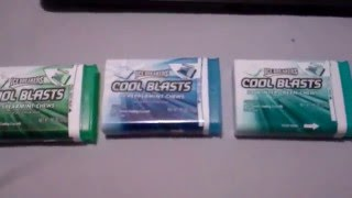 Ice Breakers COOL BLASTS Chews Review-All Flavors: Wintergreen, Spearmint & Peppermint!