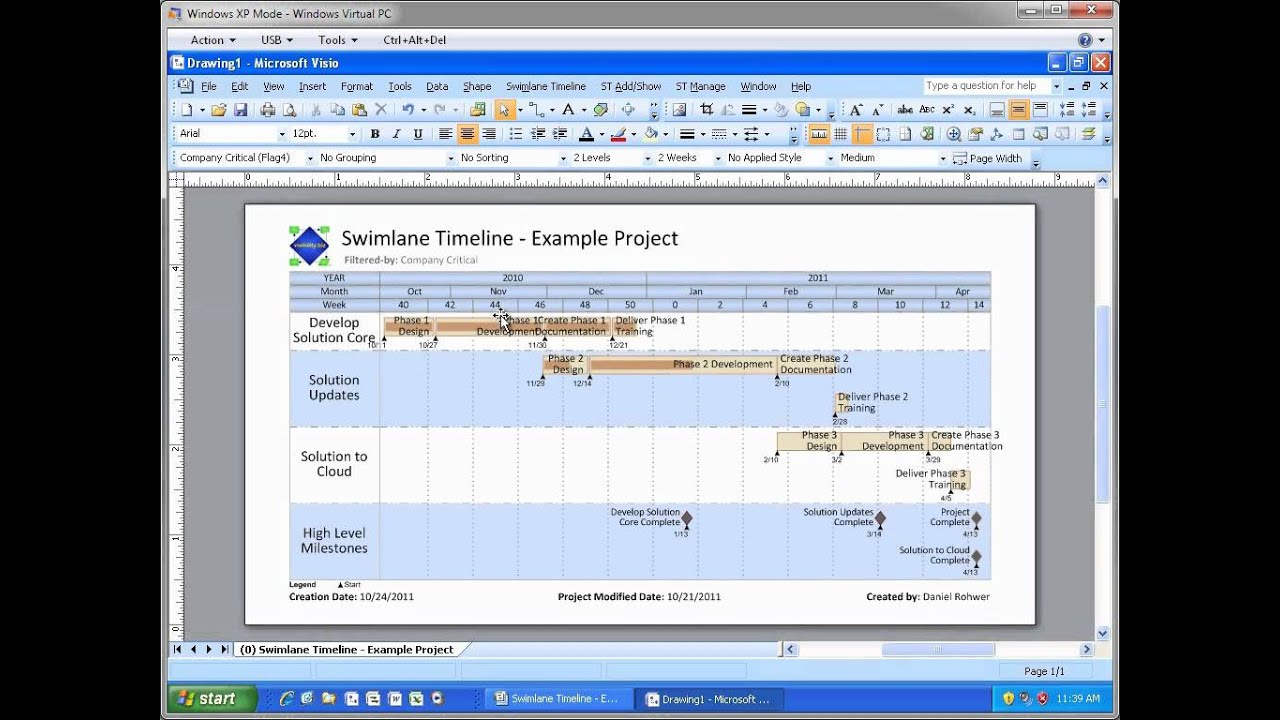 Swimlane Timeline Webinar Oct 2011  Single Project View Demo  Part 2 Of 6