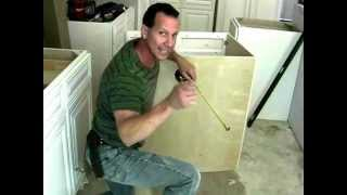Installing your sink base cabinet( Cutting Holes For Plumbing)
