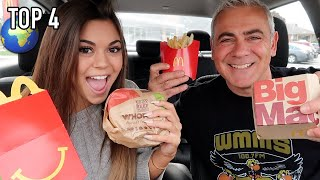 EATING THE TOP 4 FAST FOOD ITEMS IN THE NATION