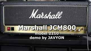 Marshall amp review - JCM800 model 2210 guitar amplifier head