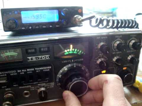Kenwood TS-700 and VO-52 amateur radio satellite.