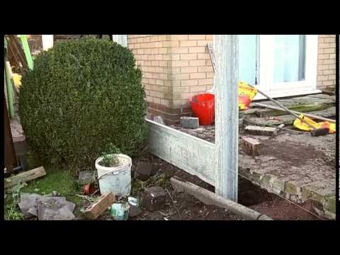 How to erect a fence. garden project