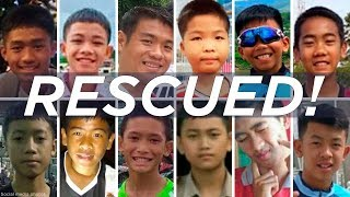 All 12 boys, their coach rescued from Thai cave