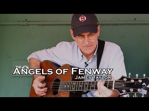 """James Taylor performs """"Angels of Fenway"""" from Red Sox Dugout"""