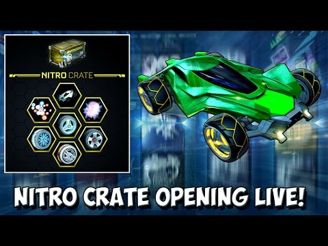 NITRO CRATE OPENING! MYSTERY DECAL IN MY FIRST CRATE! Rocket League LIVE - Crates, Trade Ups & MORE