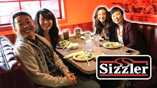 WE ATE AT SIZZLER!!!!