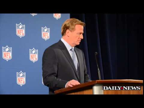 Roger Goodell press conference on NFL treatment of abuse cases
