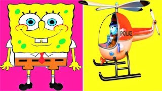 Police Helicopter,  Kids House LEGO Building Block Toys, Bricks, Play Doh Toy, Surprise Eggs