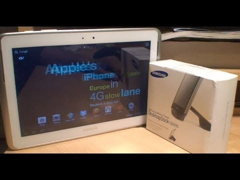 Samsung Galaxy Note 10.1 Official Desktop Dock Unboxing