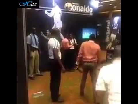 In the Cristiano Ronaldo's museum, fans try to jump as high as Ronaldo   2 88 meters