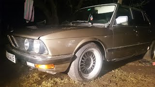 BMW E28 520i Cold Start After Half Year (1080p)