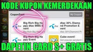 download lagu Kode Kupon Kemerdekaan Dapat Card S+  Get Rich gratis