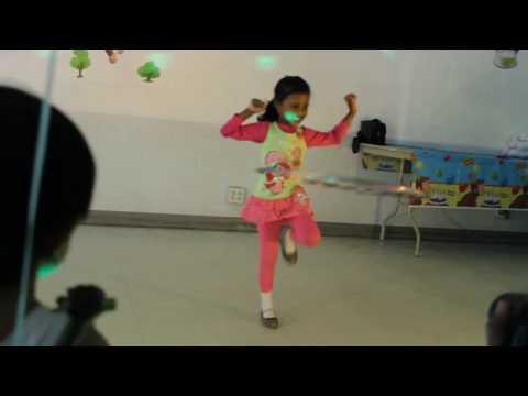 Hula-hoop Cha Cha Slide video